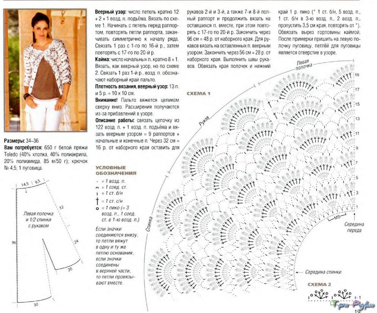 схемы вязания крючком с описанием отличается особой… Посмотреть