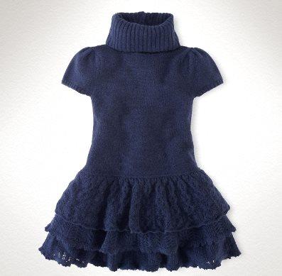 """Платье для девочки """"Французский шик"""" от Ralph Lauren спицами"""