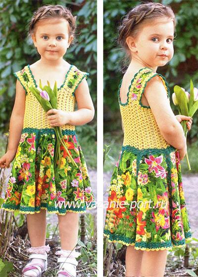 Яркий летний сарафан для девочки