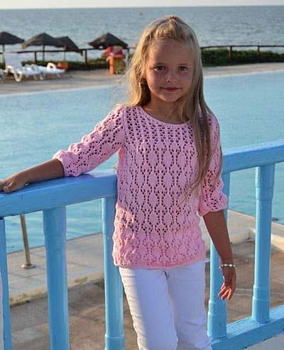 Летний свитерок для девочки