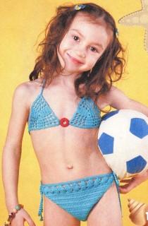Бирюзовый купальник для девочки
