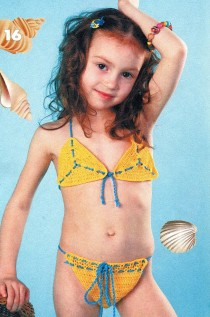 Желтый купальник для девочки