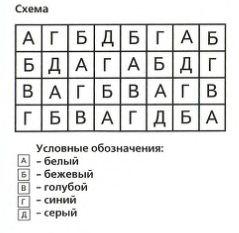 Коврик из квадратов