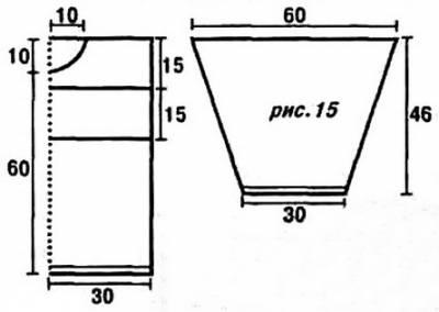 Мужской джемпер крючком с отделочной полосой из квадратов